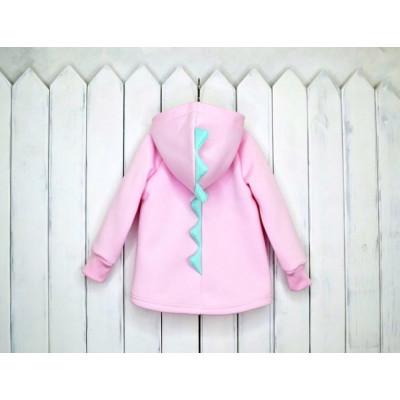 Дино Толстовка утеплённая, цвет розовый