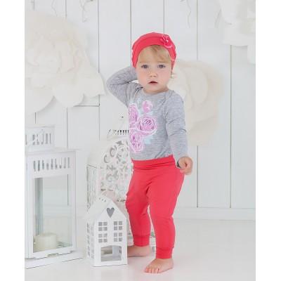 Шапочка корраловая с цветочком