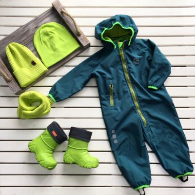Комбинезон непромокаемый Softshell — Зеленый