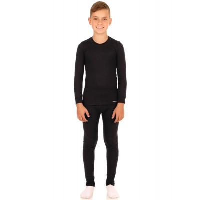 Термобелье для мальчика, в составе шерсть, чёрный