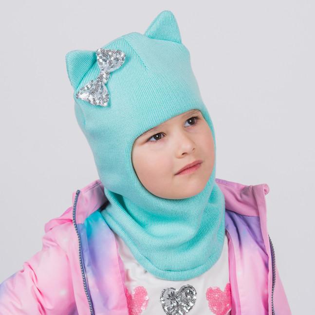 """Шлем """"Кошка"""" Мятный трёхслойный"""